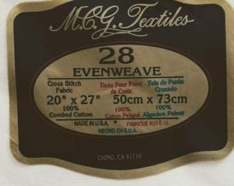28 Ct. Evenweave Cross Stitch Fabric
