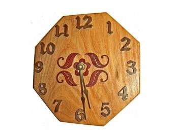 Unique Wall Clock, Wood Clock, Antique Style, Rustic Home Decor, Farmhouse Clock, Wall Decor, Decorative Clock, Keepsake Gift, Scroll Saw