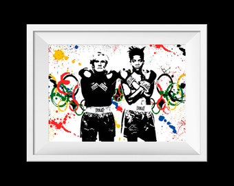 Andy Warhol and Basquiat poster print
