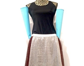Peasant Cinderella Inspired running costume- Shirt, Sparkle Skirt (and arm sleeves)