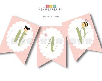 Fairies alphabet banner