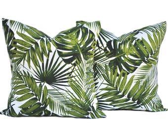 2 Tropical pillow covers, cushion, decorative throw pillow, Palm tree pillow, accent pillow, Palm  pillow, pillow case