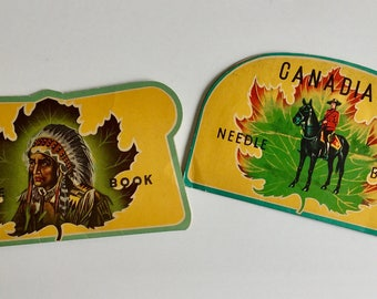 RARE Needle Book Books Vintage Native Chief and RCMP Royal Canadian Mounted Police