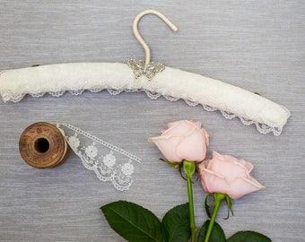 Lace Wedding Hanger, Lace Wedding Dress Hanger, Butterfly Wedding Hanger, Lace Bridal Hanger, Wedding Hanger, Bridal Hanger, Wedding Hanger