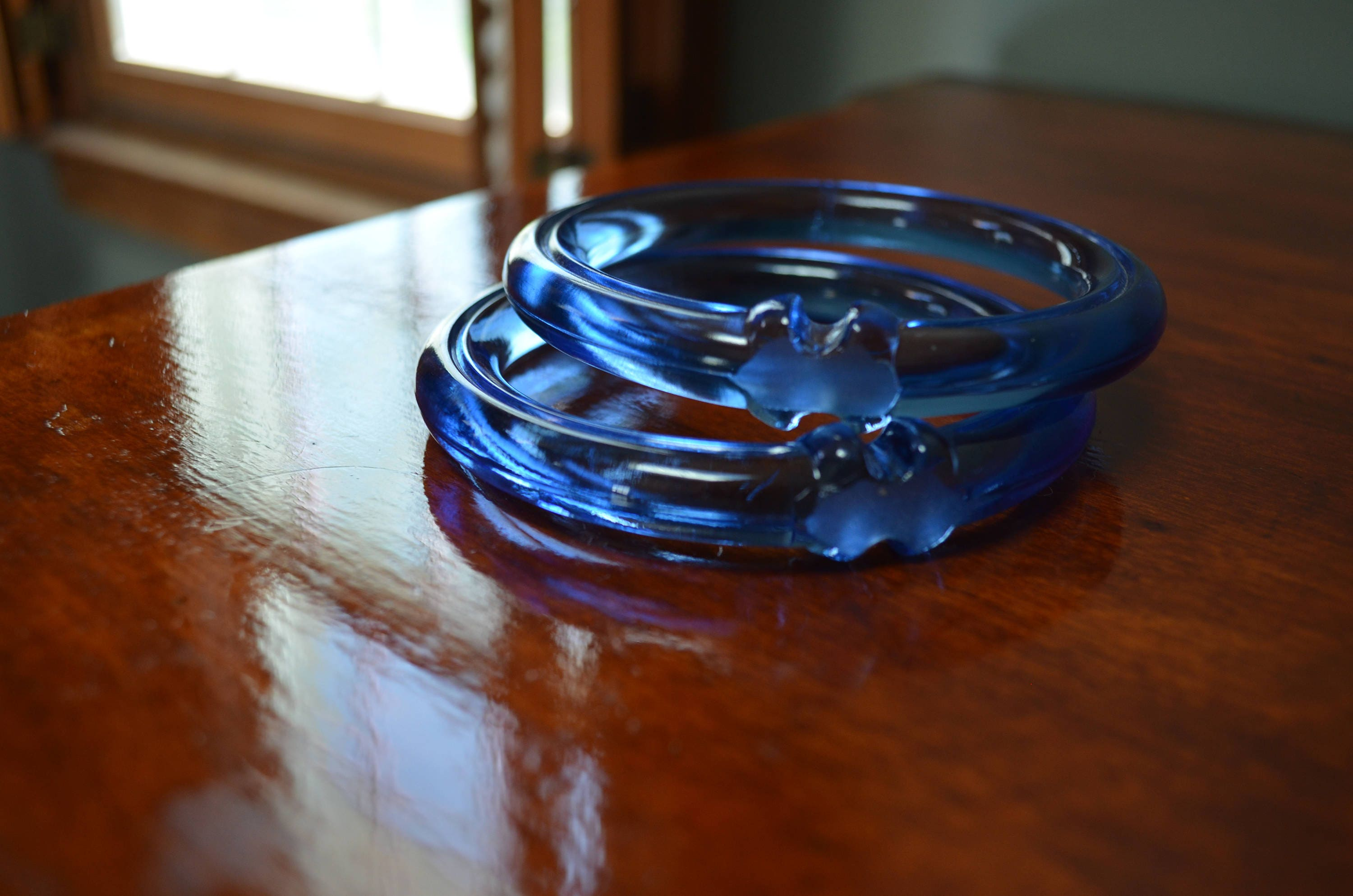 Blue glass rings drapery rings 3 inch craft supply blue for 3 inch rings for crafts