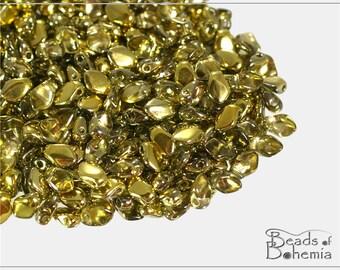 5 g Crystal Amber Czech Gekko Beads 3x5 mm (10956)