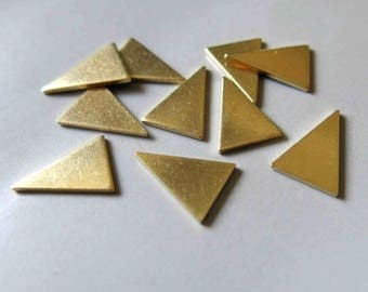 100pcs Raw Brass Triangle Stamping ,Stamping Tag,Charms 15mm x 10.5mm - F487