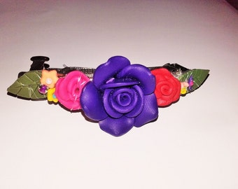 Flower Bouquet barrette hair clip.