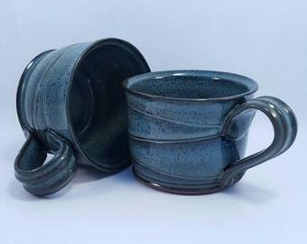 Blue Pottery Handmade Ceramic Mugs stoneware ceramic pottery blue clay mugs