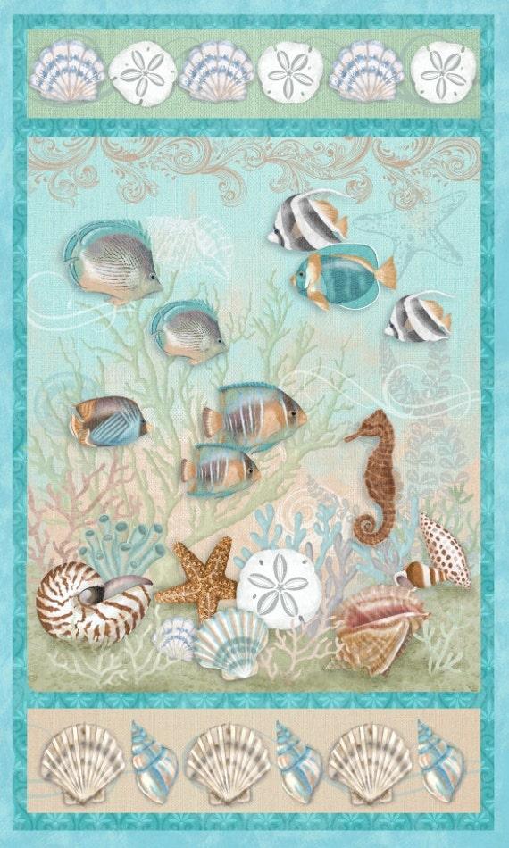 Seaside Dream Ocean Fabric Panel