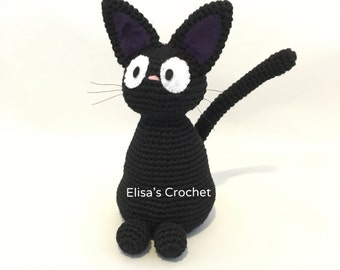 Jiji the Cat / Studio Ghibli / Kiki's Delivery Services / Miyazaki / Amigurumi Black Cat / Kitty