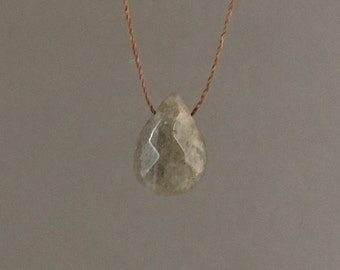 Labradorite Silk String NECKLACE or BRACELET