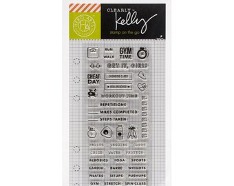 Hero Arts - Kelly Purkey Clear Planner Stamps - Fitness and Exercise Planning