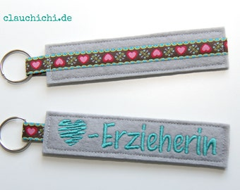 Key chain educator grey turquoise