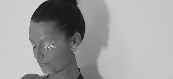 JAZZ Geometric stud earrings, Retro earrings,geometric jewelry, perspex earrings