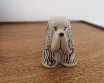 Lisa Larson Gustavsberg dog, spaniel. Kennel collection.
