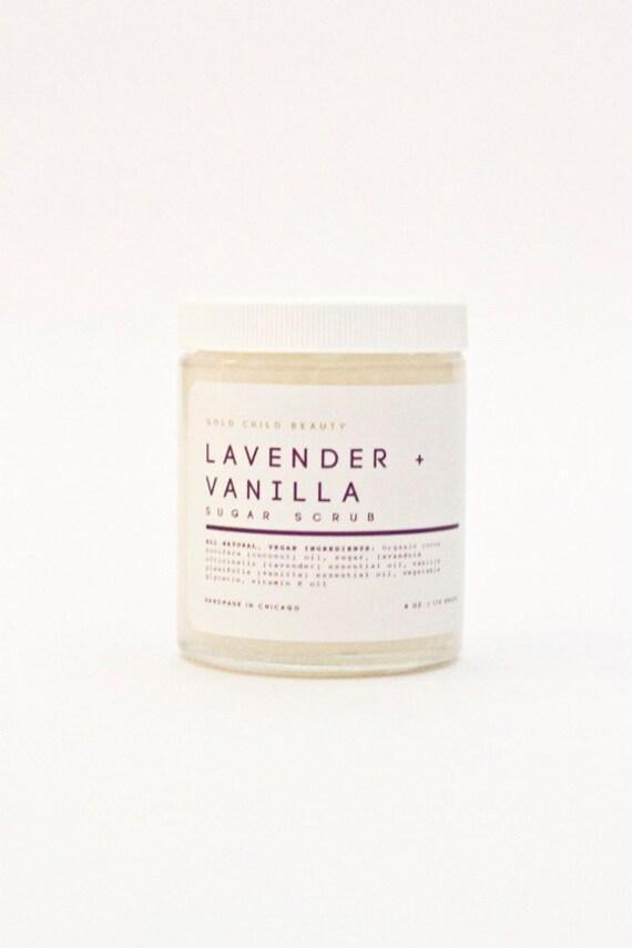 Lavender Vanilla Sugar Scrub by GoldChildBeauty on Etsy