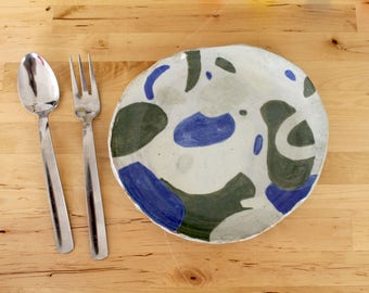 Handmade Abstract Ceramic Plate
