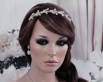Bride Headpiece Wedding Hair Accessory Bridal Head Hair Band Piece Headband Prom Party Jewelry Weddings Wreath Hairpiece Vine Accessories