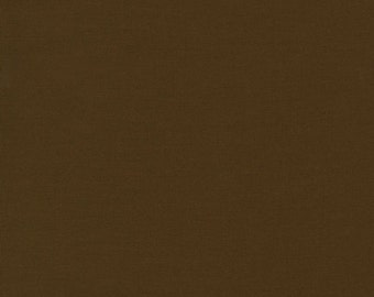 Chestnut Brown Kona Solid Fabric by Robert Kaufman. 100% cotton. Kona Cotton. Brown Solid Fabric. K001-407