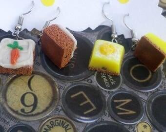 Tea cake earrings
