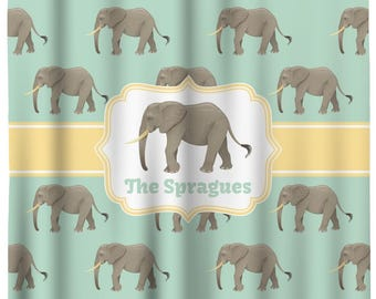 Elephant Shower Curtain (Personalized)