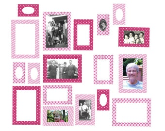 Photo Frame Wall Decals - Fabric Frame Wall Decals