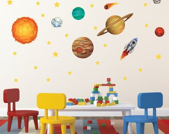 Solar System Wall Decals - Outer Space Repositionable Wall Decals