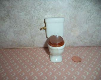 1:12 scale Dollhouse Miniature White Toilet