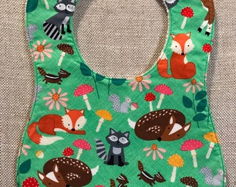Baby Bib in Timeless Treasures Woodland Animals