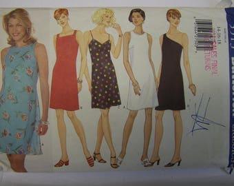 Vintage 1990s BUTTERICK 5513 DRESS-4-WAYS Pattern sizes 14-16-18  uncut