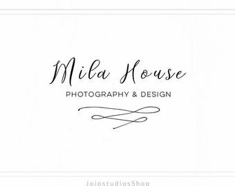 Minimal Logo Design, Simple Logo Design, Wedding Logo, Premade Photography Feminine Watermark, Pre Made Logo, L104