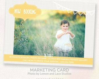 Mini Session For Photographers - Colorful Child Photography Marketing Template - Instant Download Marketing Template - Layered PSD c134