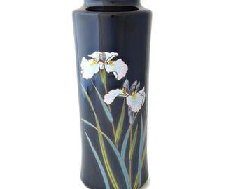 Yamaji Japanese Vase Black Tall Iris Flower