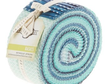 Cotton and Steel Ocean Basics Pixie Strips Spindle Strips Jelly Roll 40 2.5 Inch Strips Fabric
