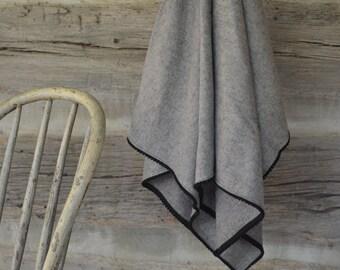 Flannel Swaddle Blanket for Baby Infant Brown Mocha Herringbone