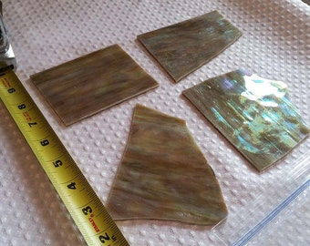 MOSAIC Stained Glass * 1/2 lb * Amber Iridescent Opaque