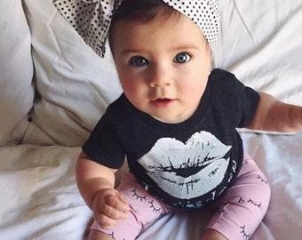 Kiss Shirt Toddler Infant Adult Shirt Onesie Monochrome