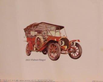 Antique Car Lithographs