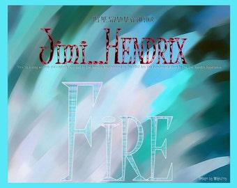 Art by WGilroy…Hendrix Fire Album Art…Hendrix Fire Album Design…Hendrix Fire Album Print…Album Art..Album Design..Album Print..Album Cover..