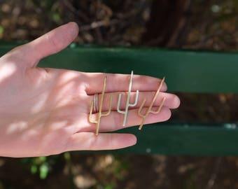 Saguaro Pendant Necklace - Sterling Silver Chain
