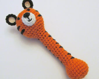 Tiger Rattle PDF Crochet Pattern INSTANT DOWNLOAD