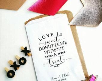 Wedding Favor Bags - Donut Favor Bags - Bridal Shower Favors - Treat Bags - Graduation Favors