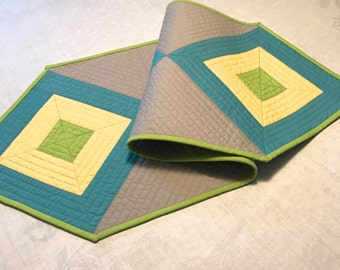 Geometric Quilted Table Runner