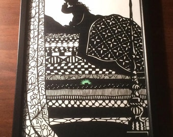Princess And The Pea A4 Papercut