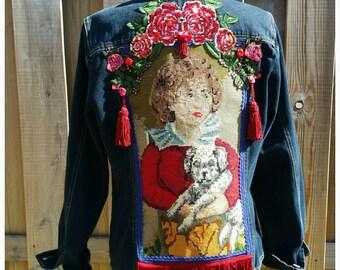 M/L Embellished Jacket *EMBROIDERY* Boho