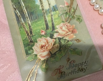 Lovely, Victorian Birthday Greeting Post Card