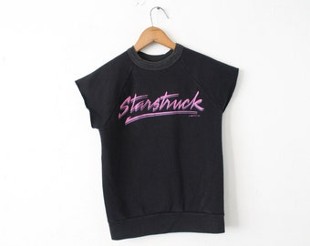 SMALL Vintage 1984 Starstruck Soft Sleeveless Sweatshirt Tank Top