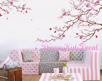 Birch trees decals wall decals nature wall decals vinyl wall - Dessin mural chambre fille ...