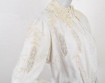 Victorian Ivory Jacket 1900's